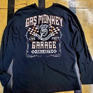 🤴👕 Gas Monkey Garage Long sleeve Tshirt size S